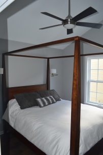 Bedroom with sconces