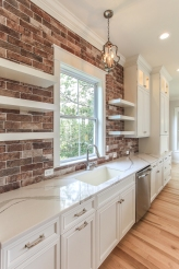 Daniel Island Brick Backsplash