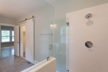 Coastal Cottage Barn Door and Shower
