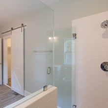 Coastal Cottage Barn Door and Shower