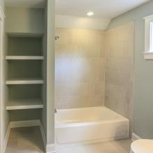 Coastal Cottage Hall Bathroom